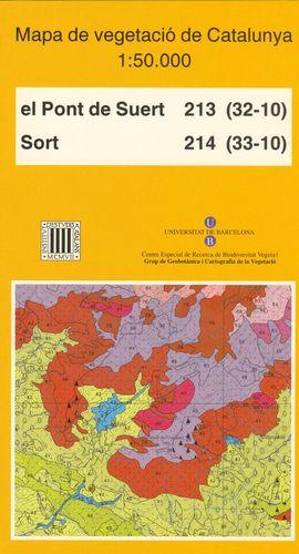 MAPA DE VEGETACIÓ DE CATALUNYA, E 1:50.000 . EL PONT DE SUERT 213 (32-10) : SORT 214 (33-10) *