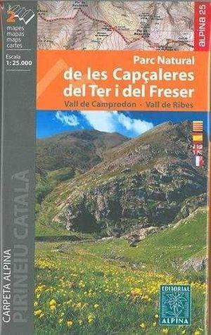 PARC NATURAL DE LES CAPÇALERES DEL TER I DEL FRESER E.1:25,000 (2 MAPAS)