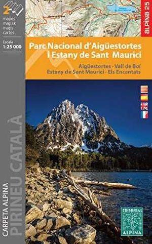 PN AIGUESTORTES ESTANY DE SANT MAURICI [2 MAPES] 1:25.000