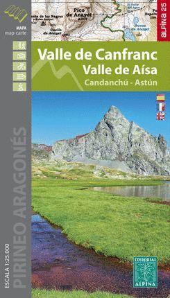 VALLE DE CANFRANC [MAPA] 1:25.000 VALLE DE AISA