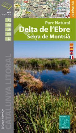 PARC NATURAL DELTA DE L'EBRE - SERRA DEL MONTSIÀ  1:50.000