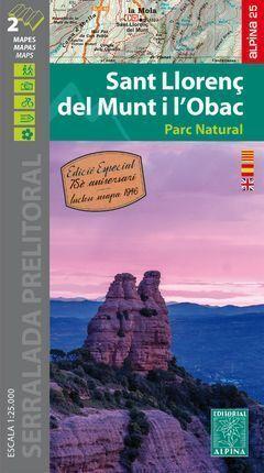SANT LLORENÇ DEL MUNT I L'OBAC (MAPA 1:25.000)