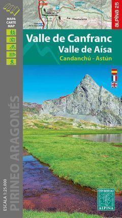 VALLE DE CANFRANC - VALLE DE AÍSA 1:25.000