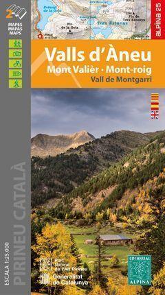 VALLS D'ÀNEU. MONT VALIER, MOT-ROIG  2 MAPES 1:25.000