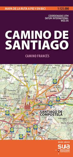 CAMINO DE SANTIAGO. CAMINO FRANCÉS 1:125,000