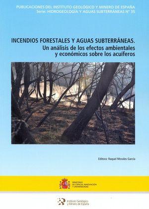 INCENDIOS FORESTALES Y AGUAS SUBTERRÁNEAS Nº 25 *