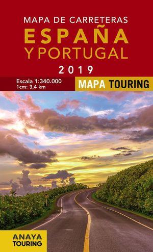 MAPA DE CARRETERAS DE ESPAÑA Y PORTUGAL 1:340.000, 2019  *