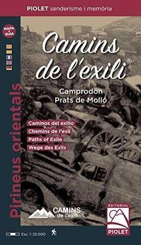 CAMINS DE L'EXILI CAMPRODON-PRATS DE MOLLÓ  1:25.000