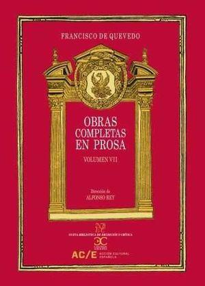 OBRAS COMPLETAS EN PROSA VOL 7  *