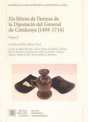ELS LLIBRES DE L'ÀNIMA DE LA DIPUTACIÓ DEL GENERAL DE CATALUNYA (1493-1714). *