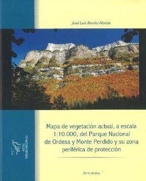MAPA DE VEGETACIÓN ACTUAL  PARQUE NACIONAL ORDESA Y MONTE PERDIDO Y SU ZONA PERITÉRICA DE PROTECCIÓN *