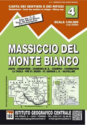 4 MASSICCIO DEL MONTE BIANCO. ALTA VIE 1- 2. 1: 50.000