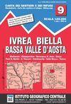 9 IVREA, BIELLA E BASSA VALLE D' AOSTA 1:50.000