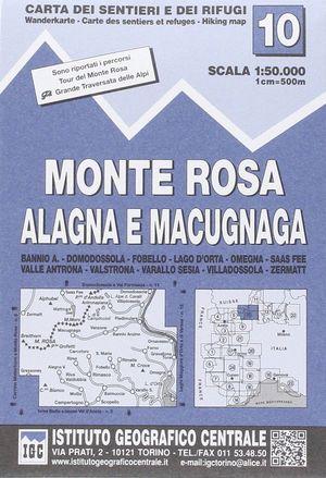 10 MONTE ROSA, ALAGNA E MACUGNAGA 1:50.000