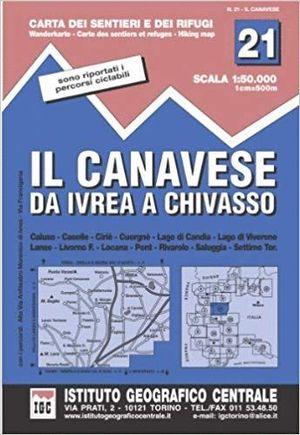 21 IL CANAVESE DA IVREA A CHIVASSO E.1:50,000 *