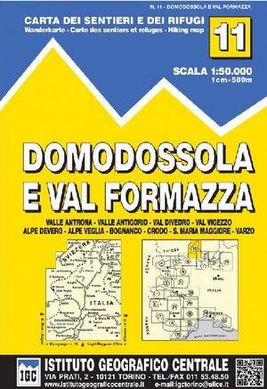 11 DOMODOSSOLA E VAL FORMAZZA E.1:50,000 *