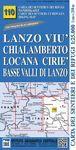 110 LANZO - VIU' - CHIALAMBERTO - LOCANA - CIRIE' E.1:25,000 *