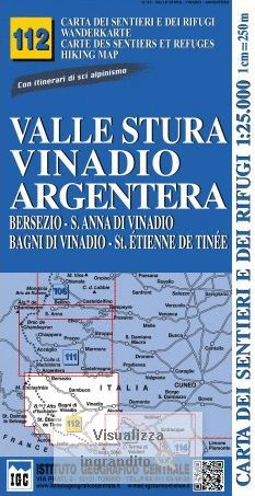 112 VALLE STURA, VINADIO ARGENTERA 1:25.000