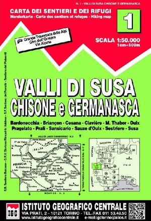 1 VALLI DI SUSA, CHISONE E GERMANASCA  E.1:50,000
