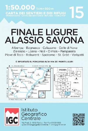 15 FINALE LIGURE, ALASSIO, SAVONA 1:50,000 *