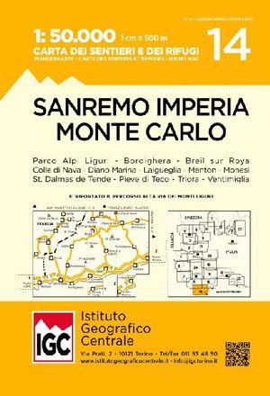 14 SAN REMO, IMPERIA E MONTE CARLO 1:50.000 *