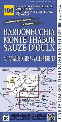 104 BARNONECHIA MONTE TABORSAUZE D'OLUX E.1:25,000