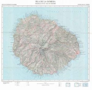 ISLA DE LA GOMERA  1:50.000