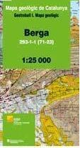 BERGA . MAPA GEOLÒGIC 1:25.000. FULL 293-1-1 (71-23) *