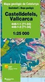 CASTELLDEFELS, VALLCARCA. MAPA GEOLÒGIC 1:25.000. FULLS 448-1-1 (71-33), 448-1-2 (71-34) *