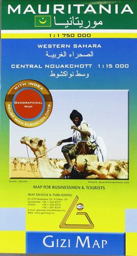 MAURITANIA 1:1.750.000 WESTERN SAHARA  *