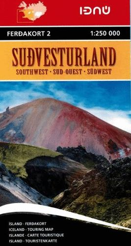 SUDVESTURLAND 1:250.000 (SOUTHWEST ICELAND - SUROESTE ISLANDIA) *